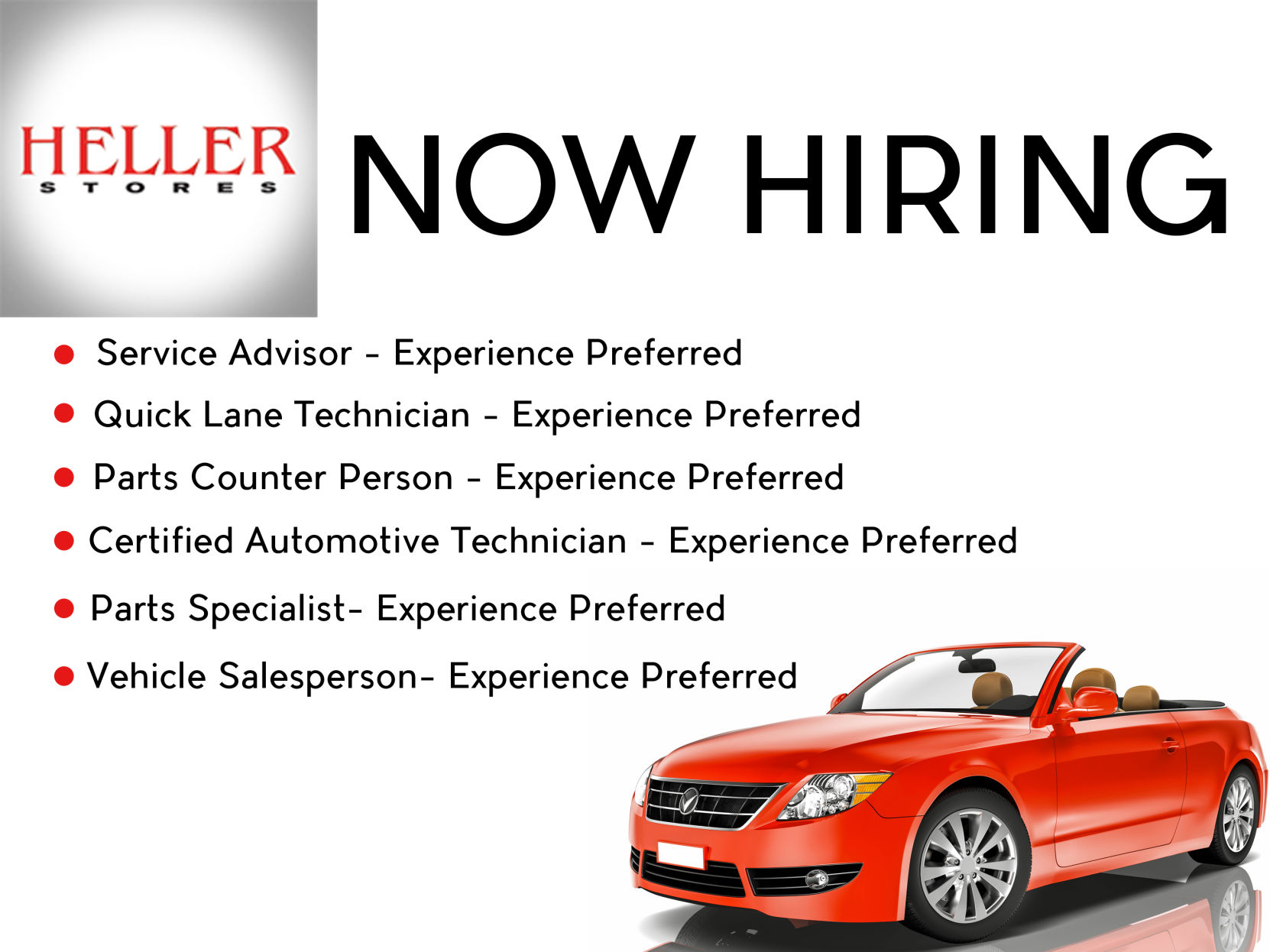Heller ford is now hiring