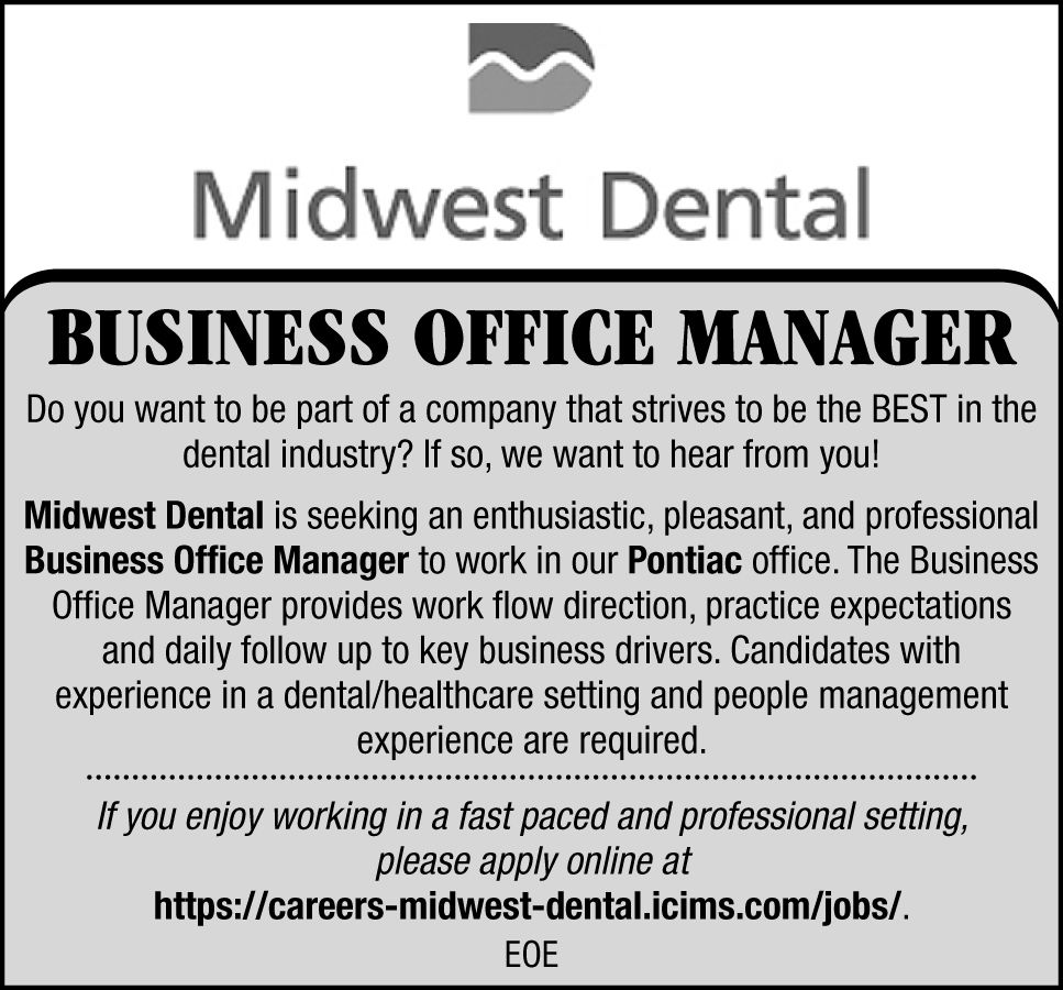 now hiring open positions in central illinois jobs herald midwest dental is looking for a business office manager