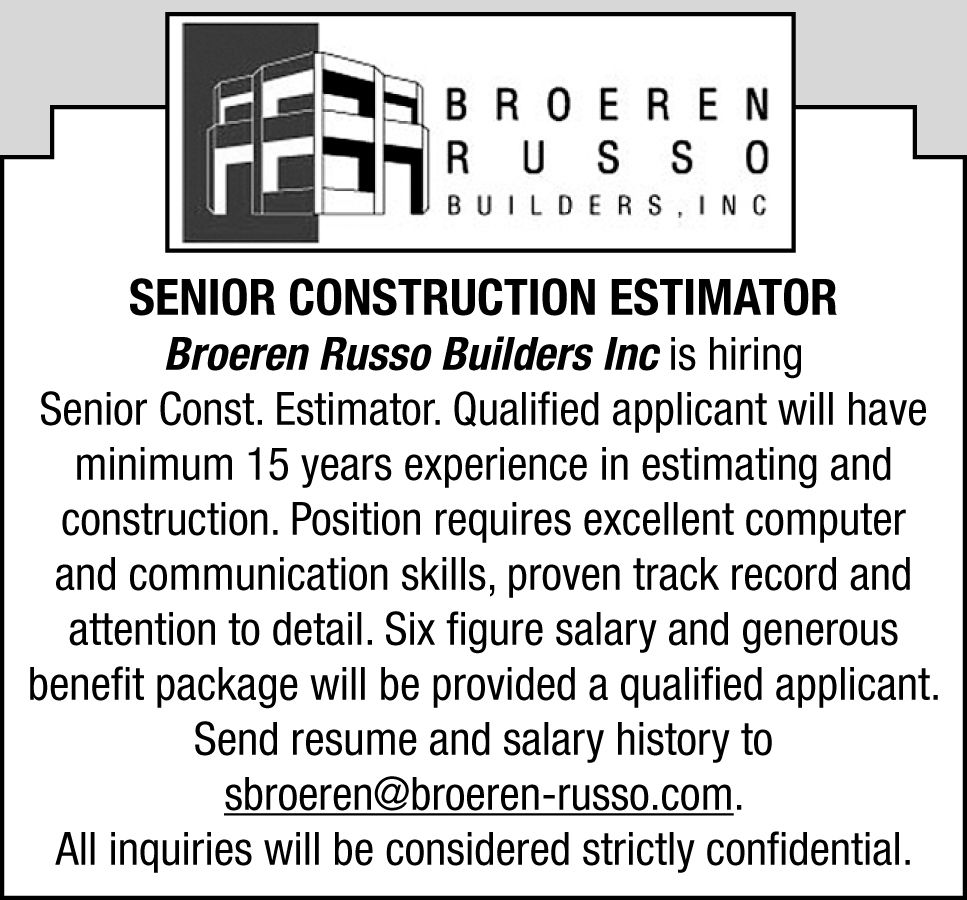 now hiring open positions in central illinois jobs herald broeren russo builders inc is looking for a senior construction estimator